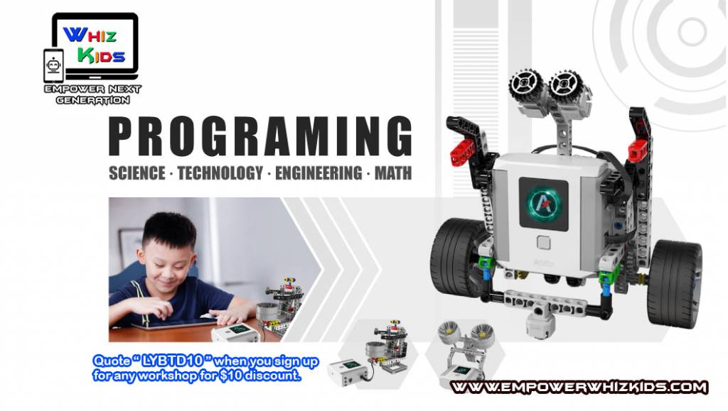 Hands-on Robotic Workshop For Kids 5 Years old and Above