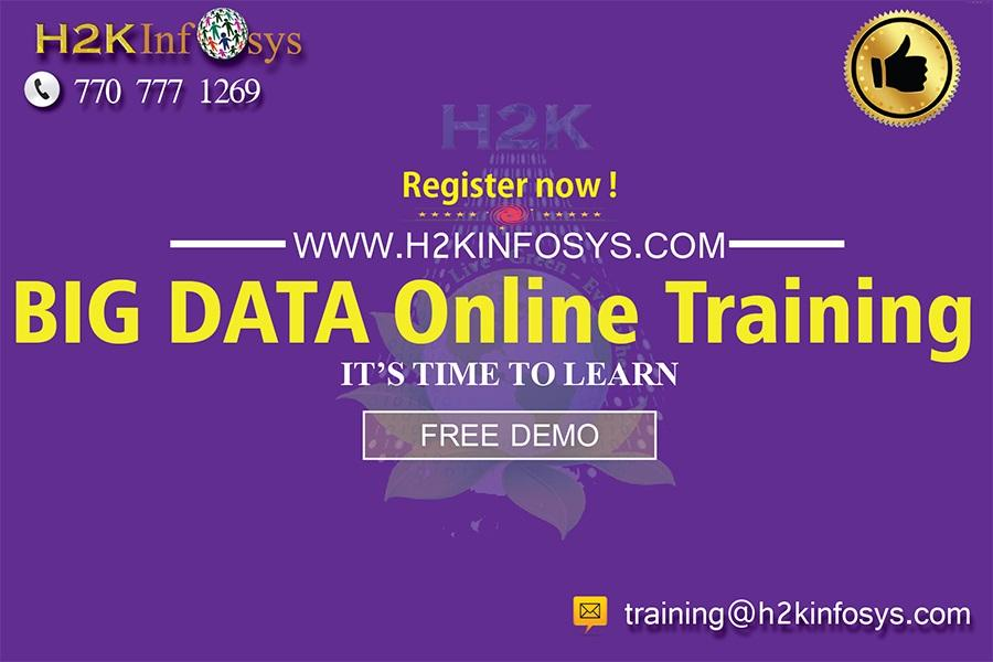 Big data online training classes by h2kinfosys singapore