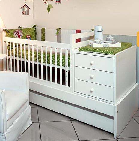 Complete Baby Cot Crib Set W Chest Of Drawers And Bed