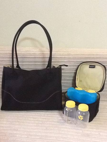 Medela Citystyle Breat Pump Bag With Cooler Bag With Ice Pack With 4 Medela Storage Bottles Singapore Classifieds