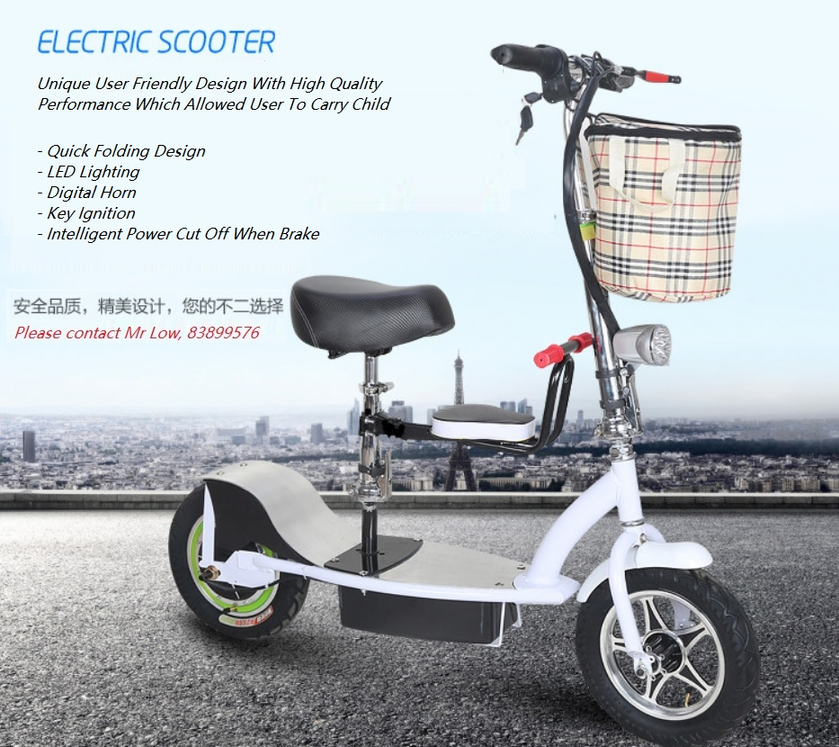 Brand New Electric Scooter For Sale Singapore Classifieds