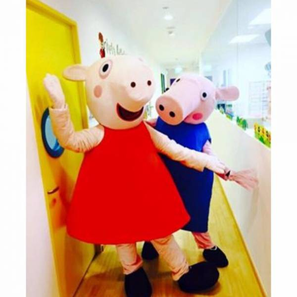 Long weekend sales peppa pig and george mascot meet greet our mascot meet greet session is the perfect addition for an abundance of excitement and amazement peppa pig m4hsunfo
