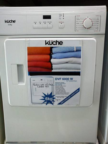 Kuche Front Load Dryer 6kg Singapore Classifieds