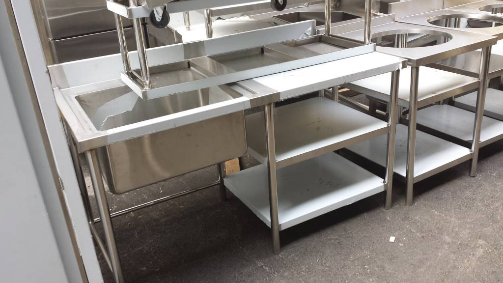 Stainless steel sink, shelf, table and fabrications and ...
