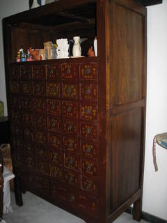 Antique Chinese Style Medicine Cabinet For
