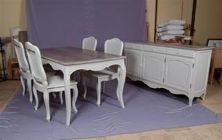 Distress Shabby Chic Furniture Classic French Country Dining Tablefrench Chairs Cabinet Chest