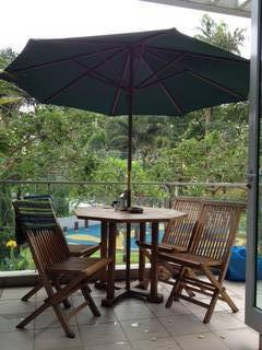 Selling Away Our Lovely Outdoor Furniture Because Our New Flat Doesnu0027t Have  A Balcony.   Table   4 Chairs   Umbrella (Green)