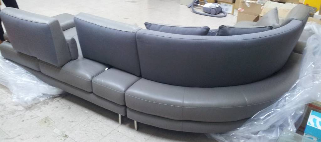 We Bought A Set Of Grey Color Curved L Shape Full Leather Htl Sofa From Their Warehouse S In Gul Circle On Saay 26th May 2017 And The Just