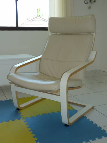 ikea poang chair leather