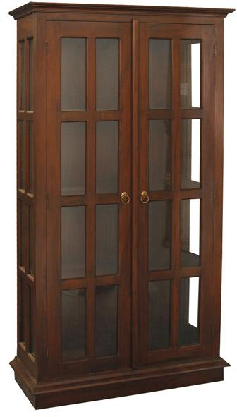 Brand New Teak Gl Display Cabinet With Door Hutch For Ornament And Book Can Be Used As Bookshelf Bookcase