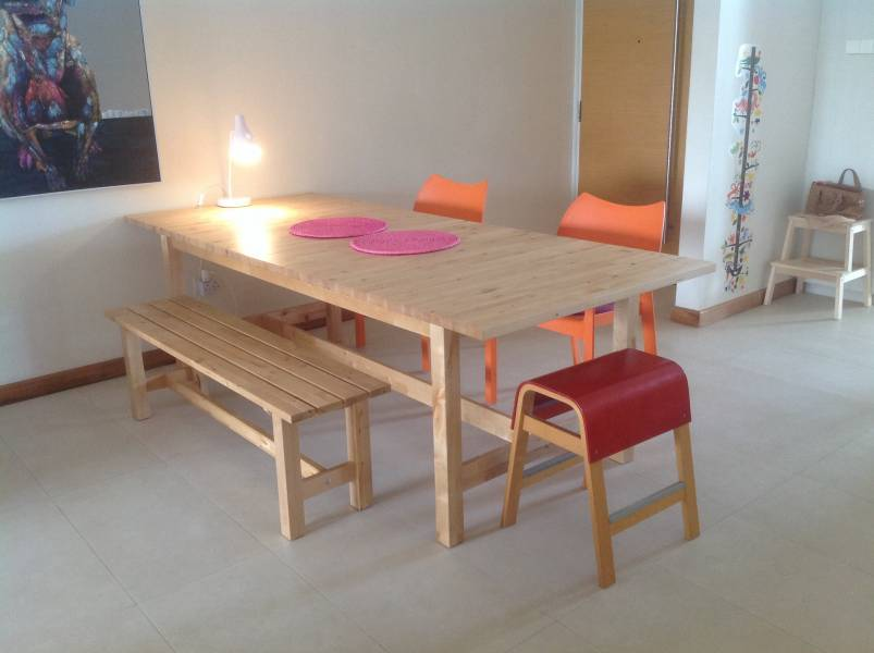 Norden Extendable Dining Table Plus Two Matching Benches