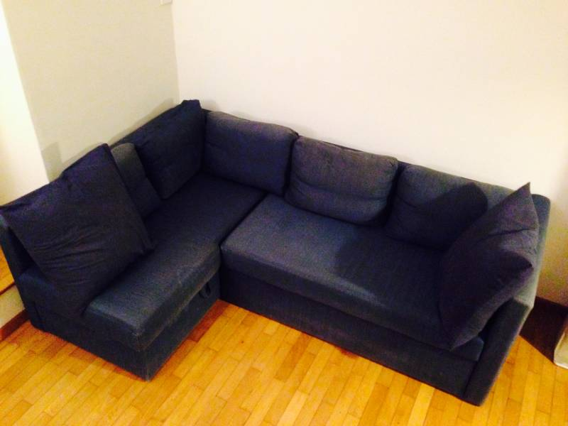 We give away for free a used sofa bed which is in very good condition. The sofa is L-shaped and can be turned into a comfortable sofa double bed and has ...