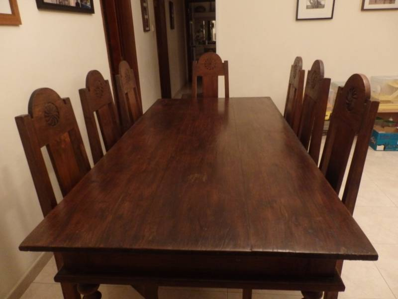 John Erdos 8 seat dining table and chairs • Singapore ...