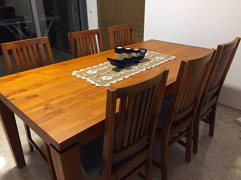 REDUCED PRICE SOLID teak dining table 6 chairs set  : 1487647847img6074mEqWw from classifieds.singaporeexpats.com size 800 x 600 jpeg 57kB