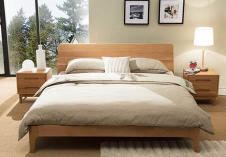 Solid Oak Wood Scandinavian Bed Frame Queen Ortho Medcare