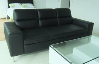 Brand New Half Leather Sofa Sitting Area Real Modern Sleek Style Width Is 2 13 Meter 7 Feet The Very Comfortable Perfect Size For