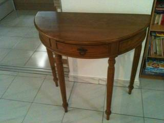 half moon table with small drawer for 40 singapore classifieds. Black Bedroom Furniture Sets. Home Design Ideas