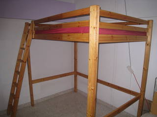 ikea stora queen sized solid pine loft bed singapore classifieds. Black Bedroom Furniture Sets. Home Design Ideas