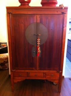 Selling A Chinese Wedding Cabinet / Tv Cabinet   $480