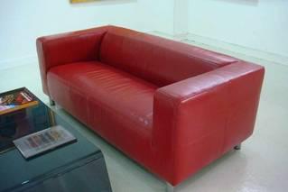 Ikea Klippan Leather Two Seat Sofa 2 Year New