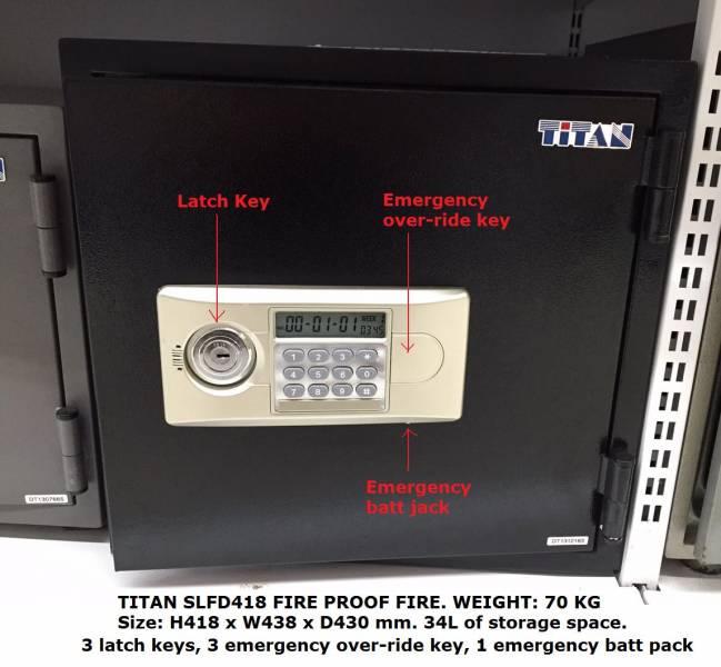 TITAN SLFD418 Fire Proof Safe on Promo @ Selffix DIY