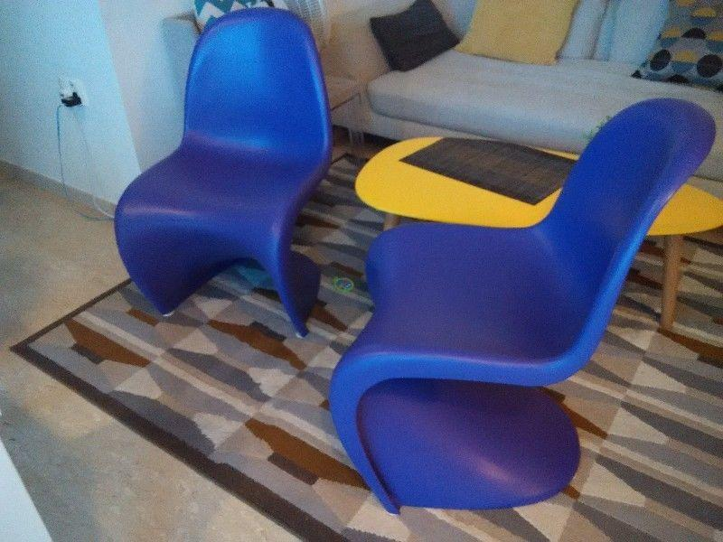2x designer original panton chair limited edition singapore classifieds. Black Bedroom Furniture Sets. Home Design Ideas