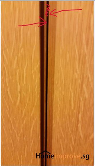 A Laminate Repair Cupboard Realign Doors Professional Singapore Class