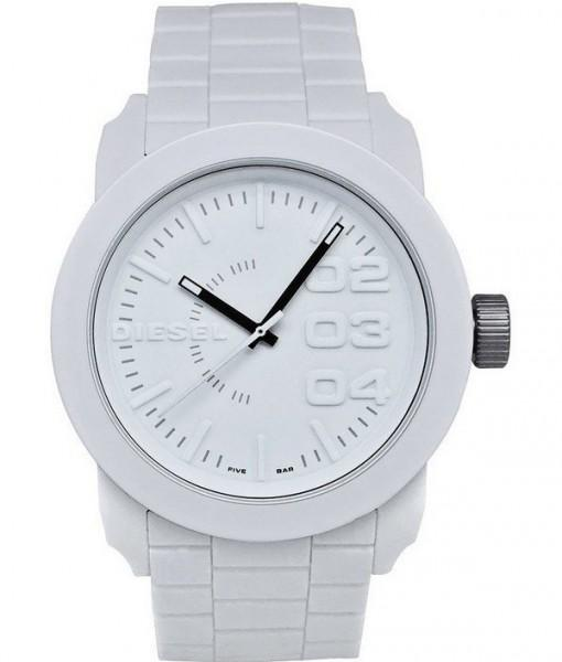 Diesel quartz white rubber strap watch / Did lil master
