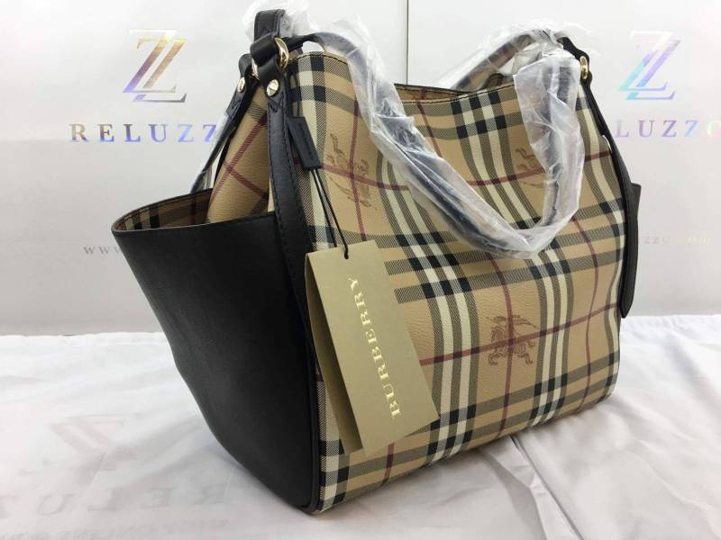 eb21cb6defec BURBERRY 40068311 LADIES LARGE LEATHER BAG BROWN (also available in RED  color)