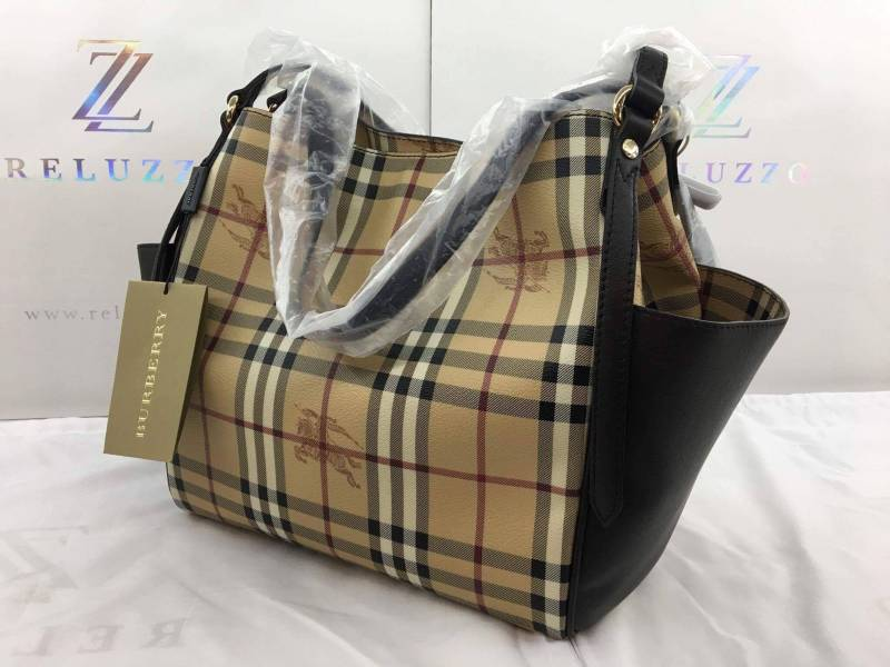 3dfee22ec8c5 BURBERRY 40068311 LADIES LARGE LEATHER BAG BROWN (also available in ...