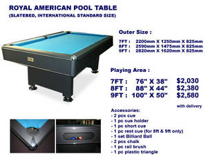 Pool Tables For Sale Brand New From Singapore Classifieds - Fold up pool table full size