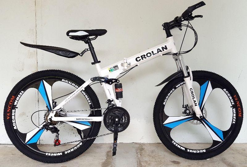 c9364f0adb7 Brand new 26'' Foldable Mountain Bike /Bicycle, 21 speed Shifter, Front n  back derailleur, Front n back full suspension, Disc brakes