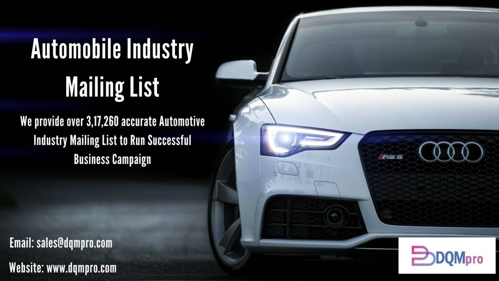 Automobile Industry Mailing List | Automotive Industry Email