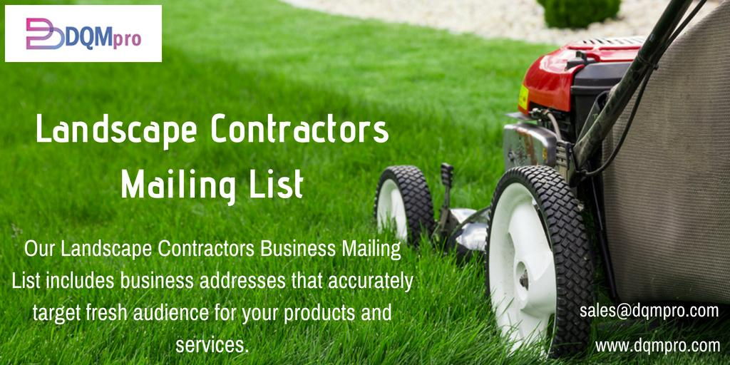 Landscape Contractors Mailing List | Contractors Business Email